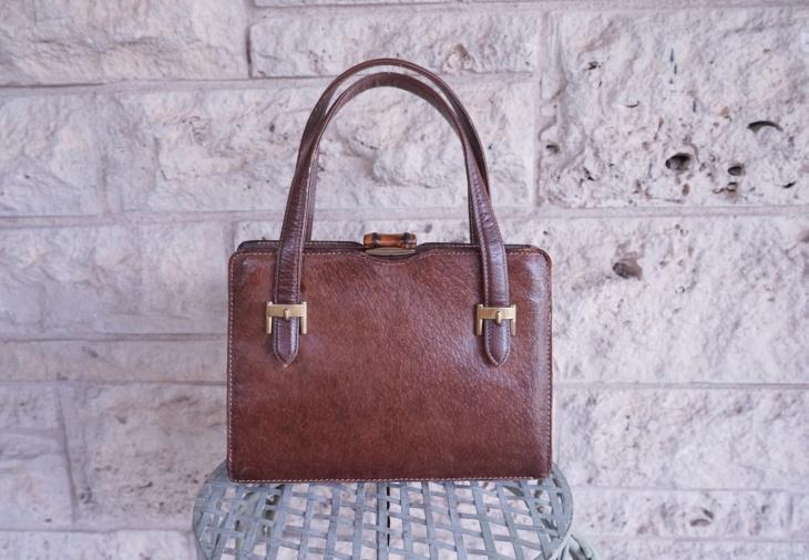 brown leather designer handbag