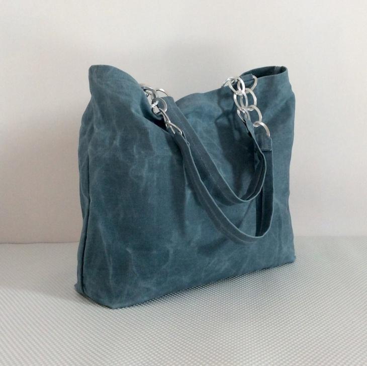 designer canvas tote handbag
