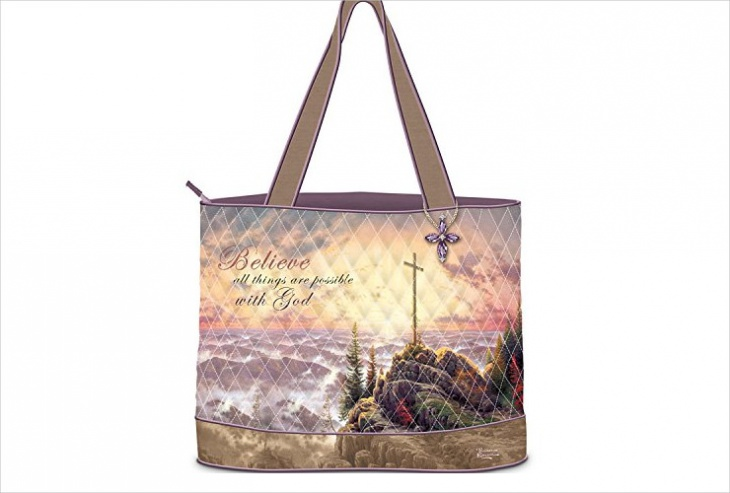designer quilted fabric handbag