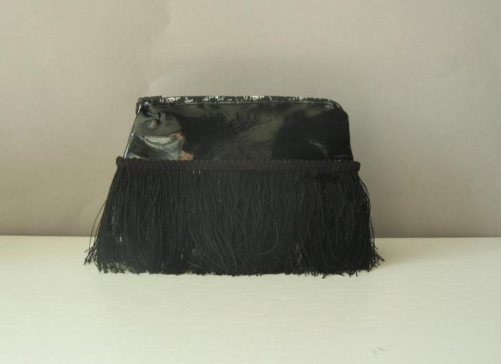 black fringe handbag design