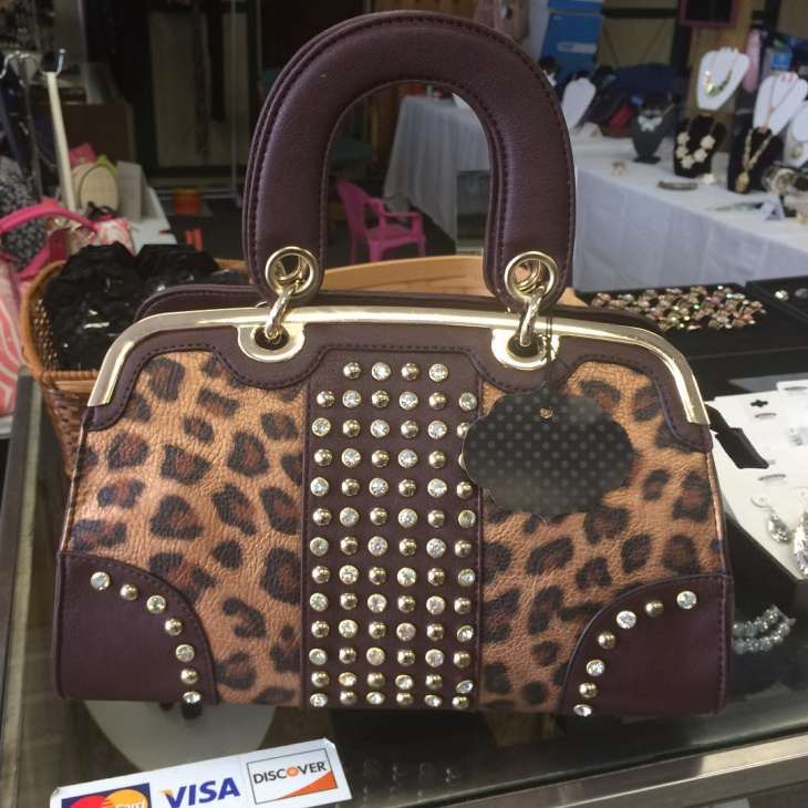 leapord print designer handbag