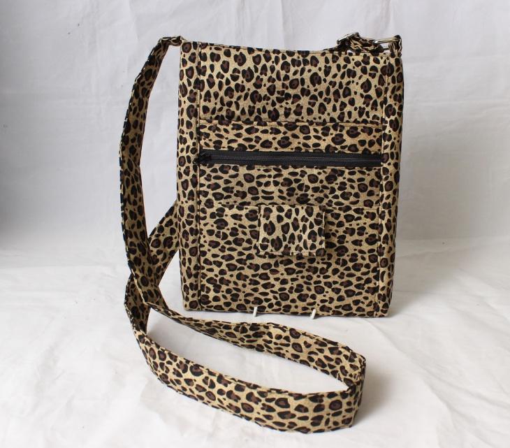 animal print crossbody handbag