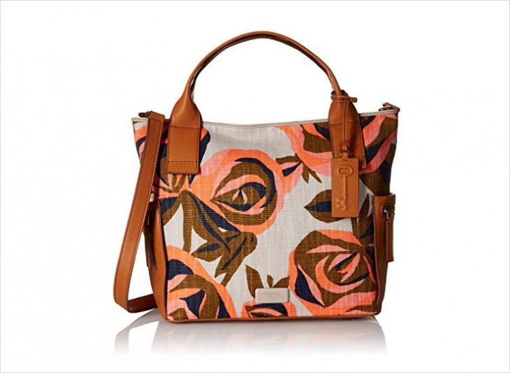 floral fossil handbag design