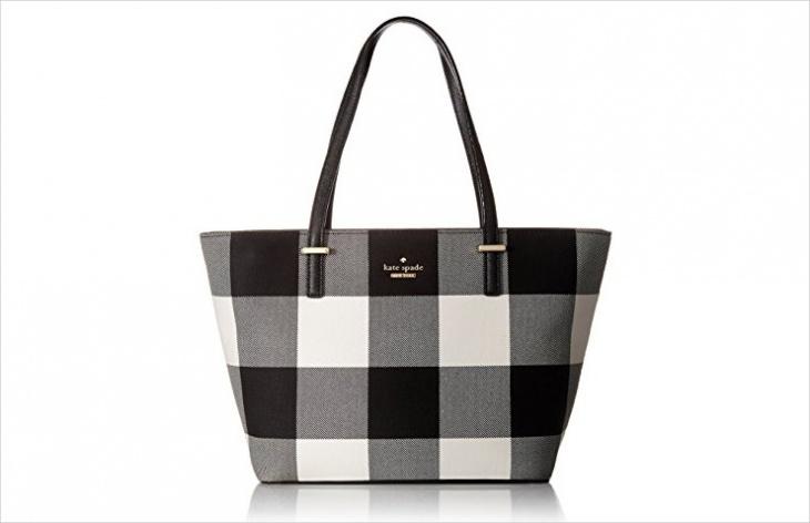 plaid tote handbag1
