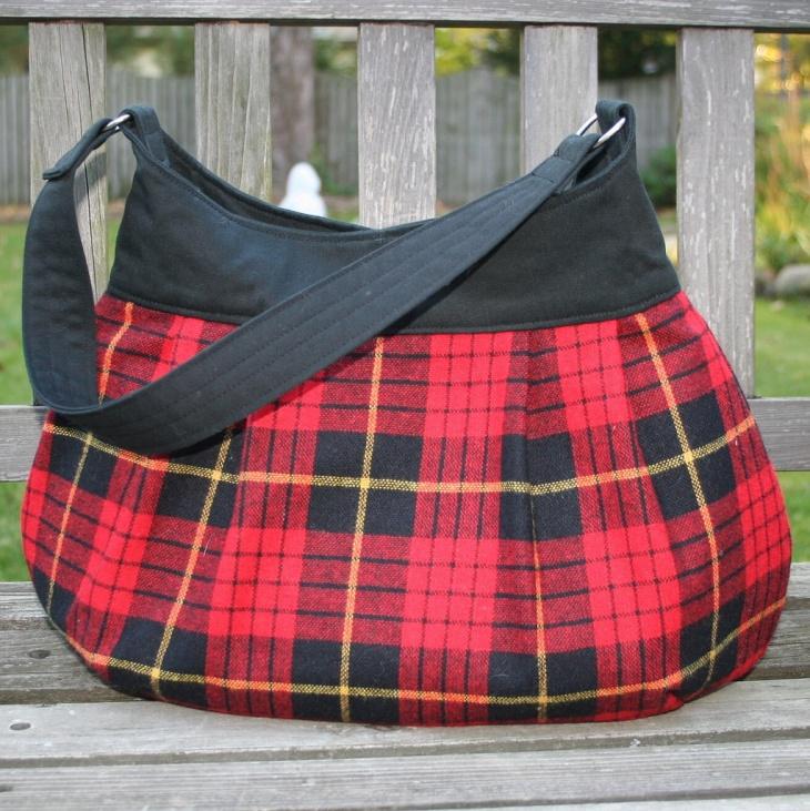 plaid wool handbag design1