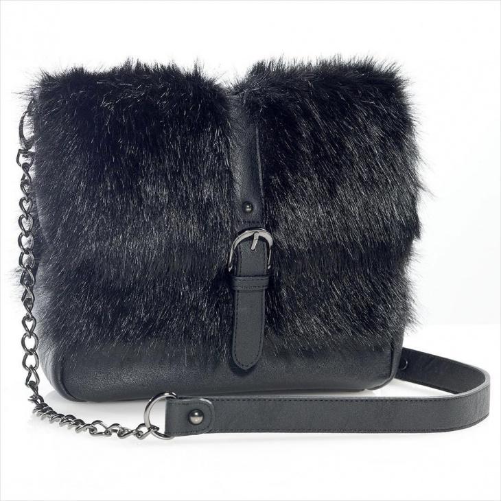 black fur handbag design