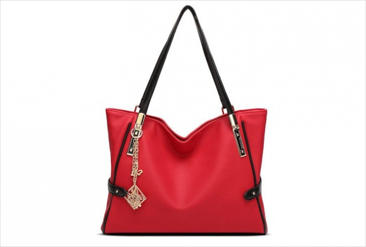 black and red handbag design
