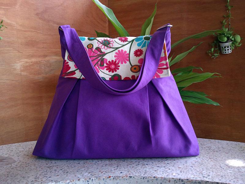 Cute canvas tote handbag