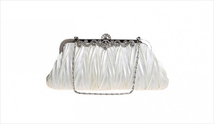 white clutch handbag design