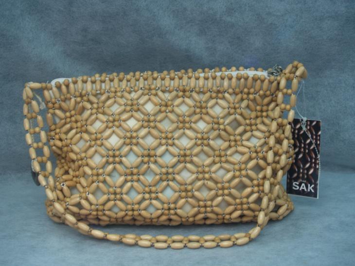 wooden bead handbag design