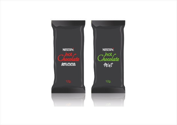 hot chocolate packaging design