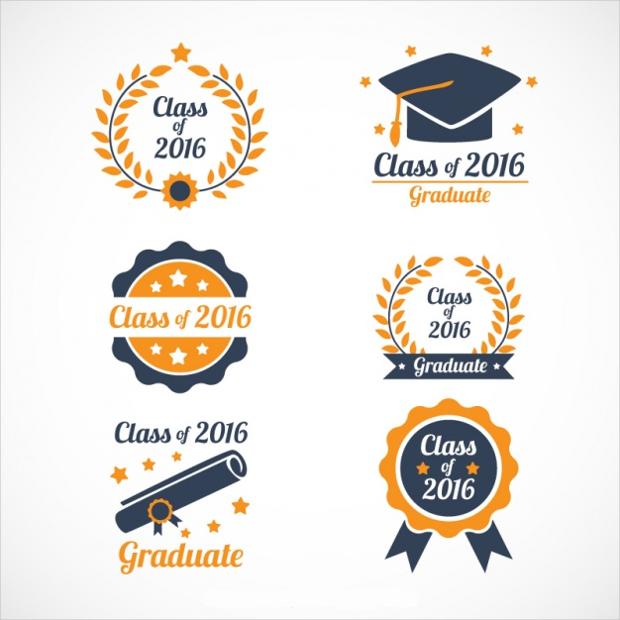 hand drawn graduation logos