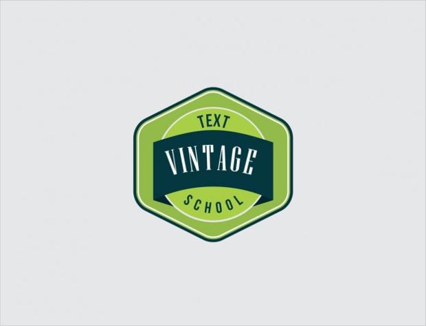 vintage school logo
