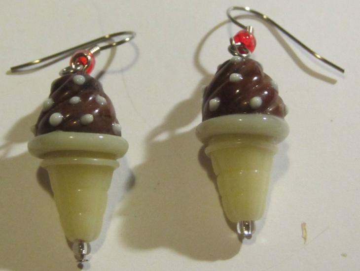 Ceramic Ice Cream Earrings