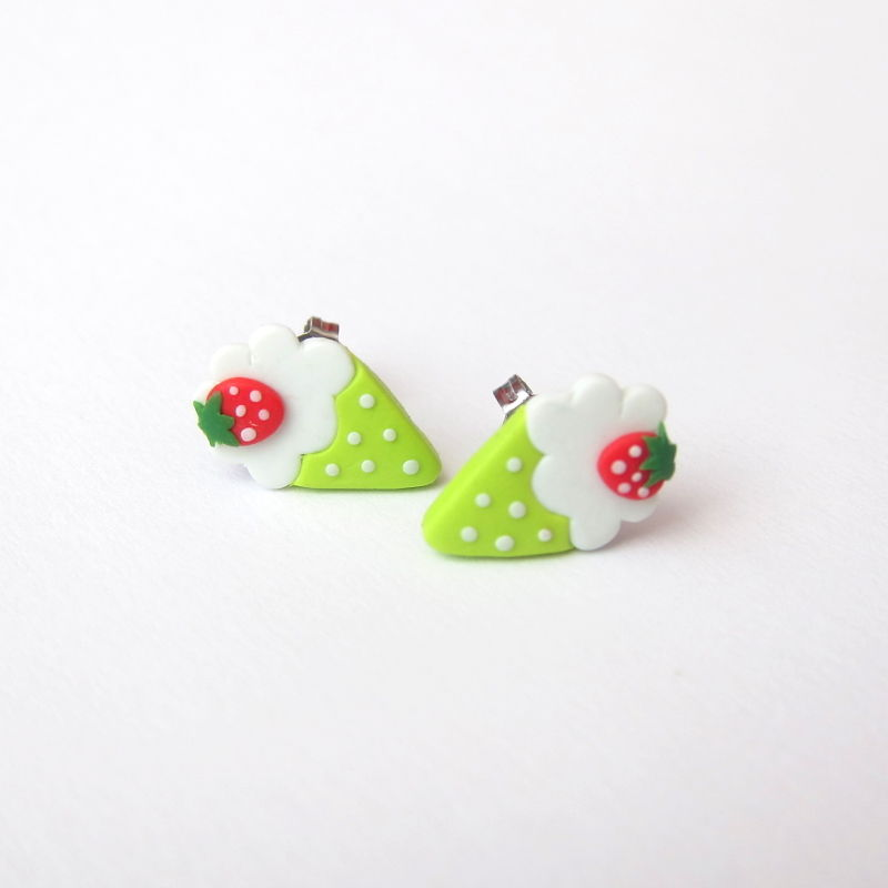 colorful ice cream earrings