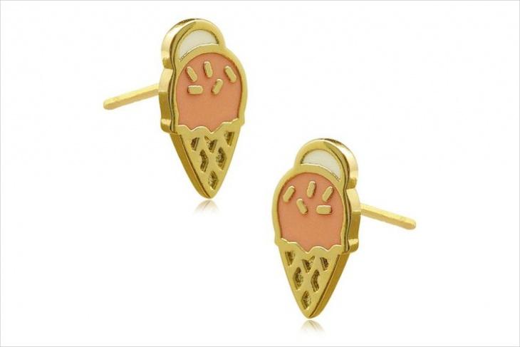 Simple Ice Cream Stud Earrings
