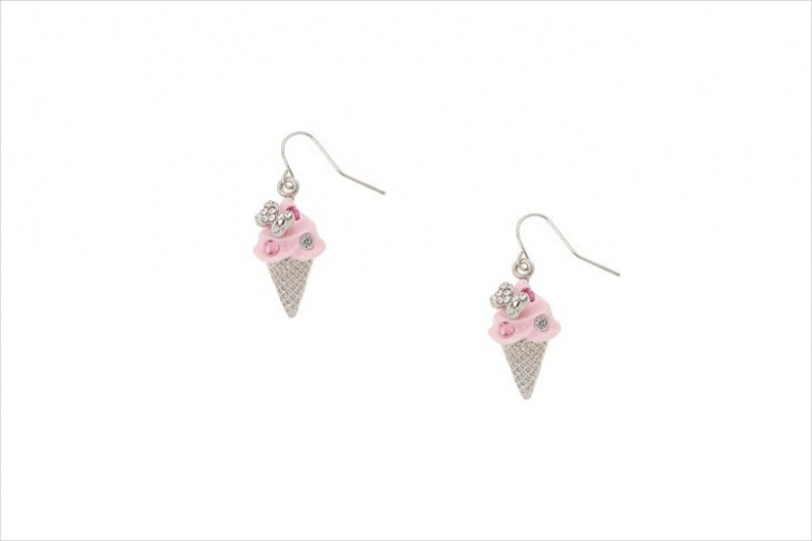 crystal ice cream earrings