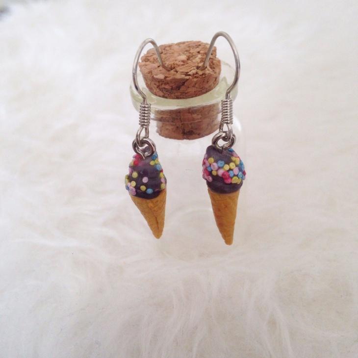 Handmade Ice Cream Earrings