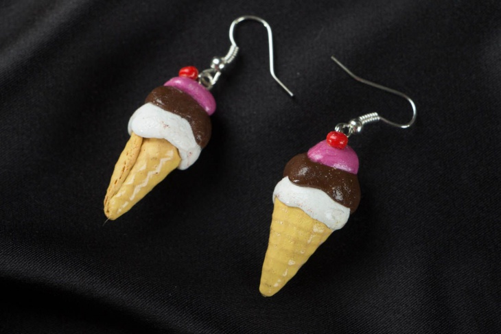 awesome ice cream earrings
