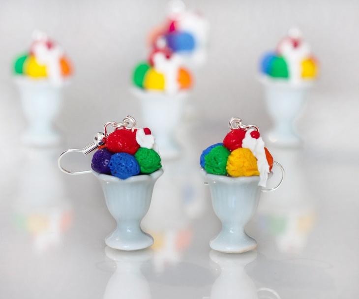 Beautiful Ice Cream Earrings