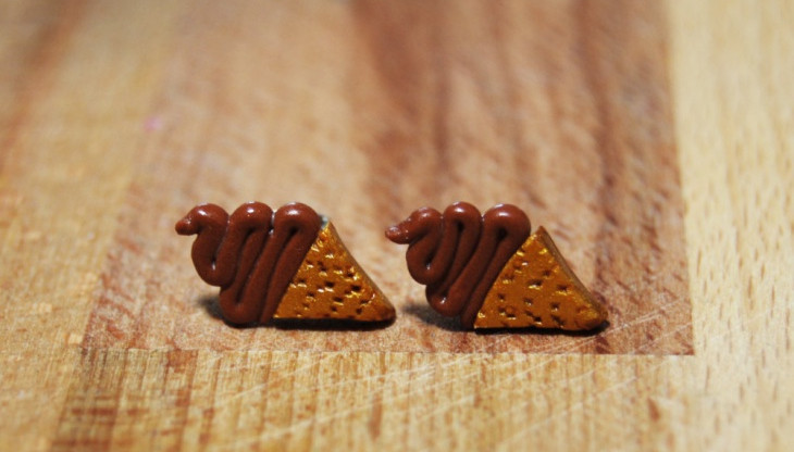 chocolate ice cream earrings
