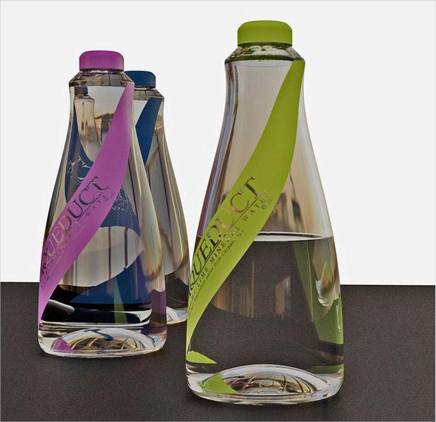 water bottle package design