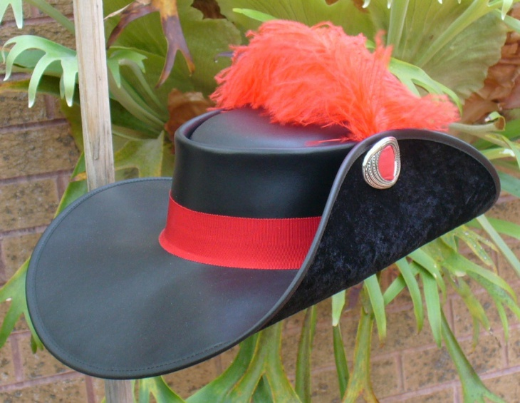 Leather Musketeer Hat