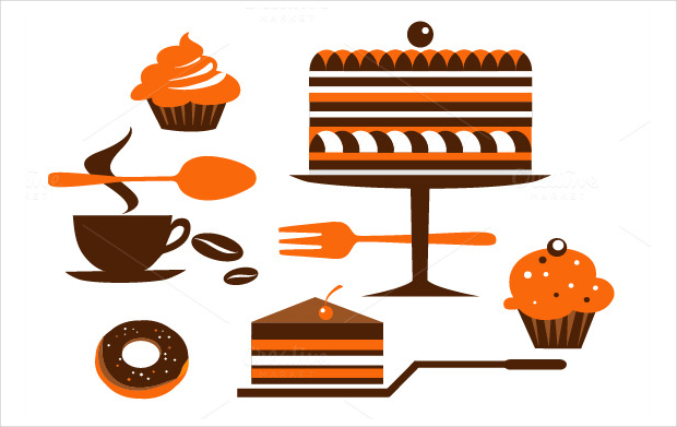 Coffee and Pastry icons