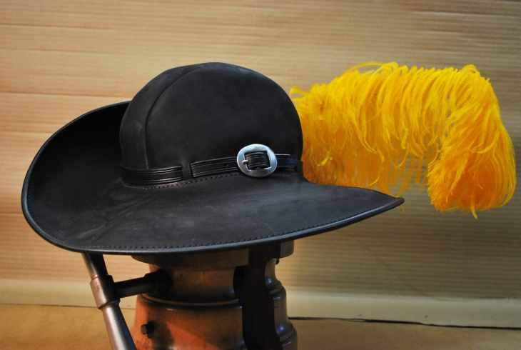Musketeer Hat with Yellow Feather