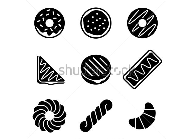 donut and pastry icons1
