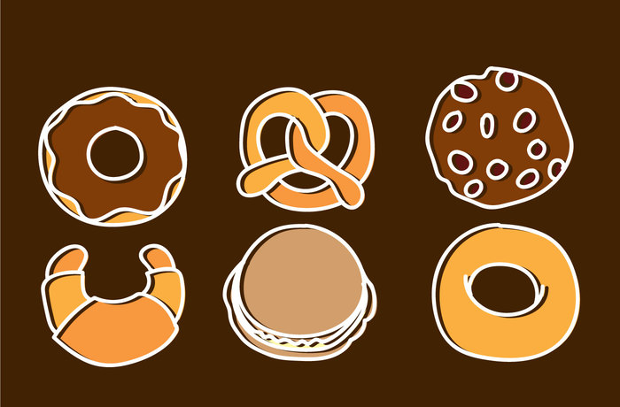 high resolution bakery and pastry icons
