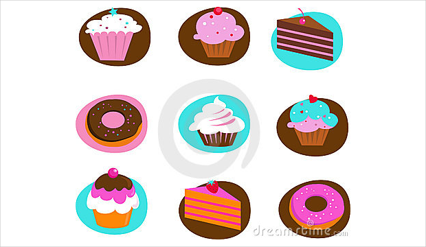 Collection of Pastry Icons