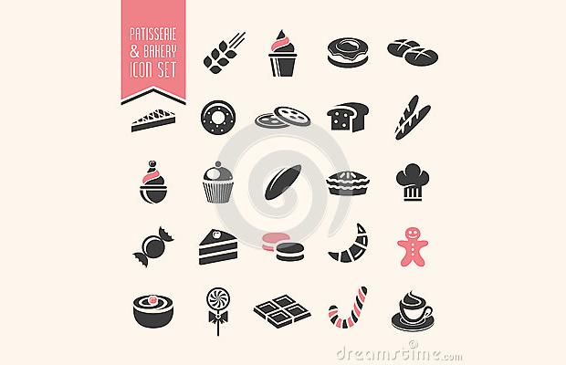 best pastry icon set