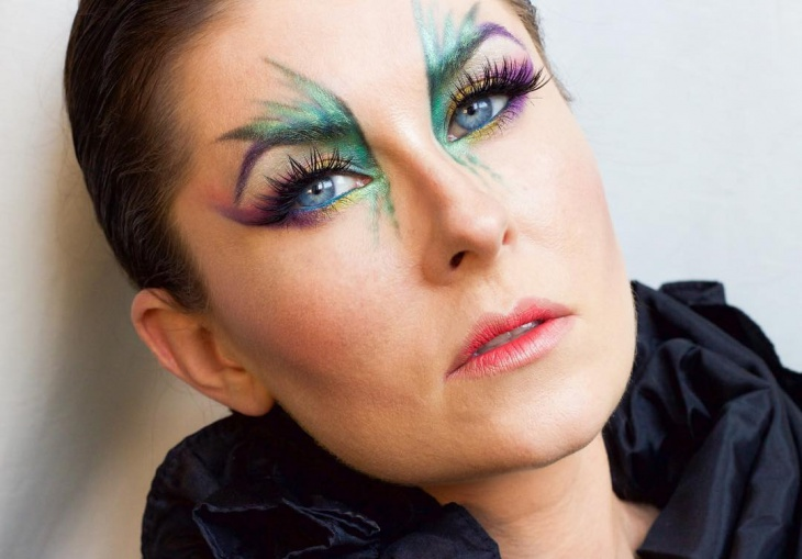 bird eye makeup design
