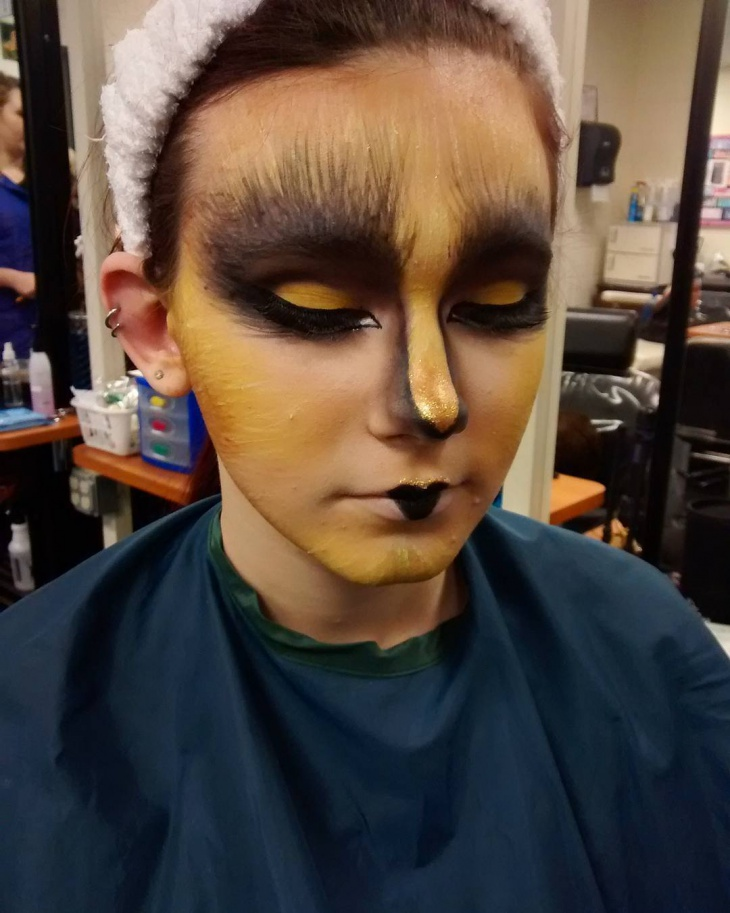 fantasy bird makeup