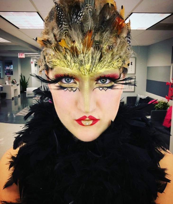 bird queen makeup design