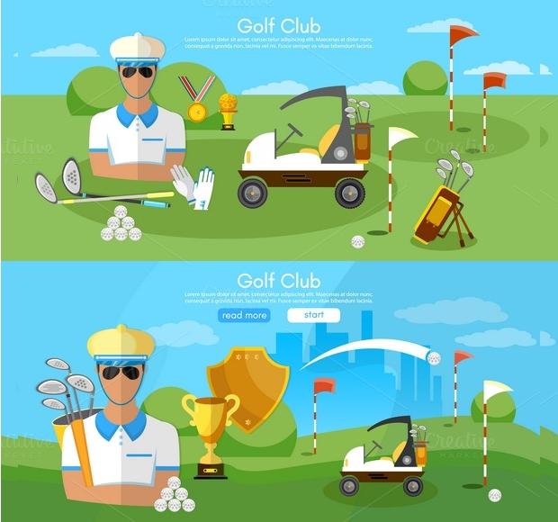 Golf Club Banners