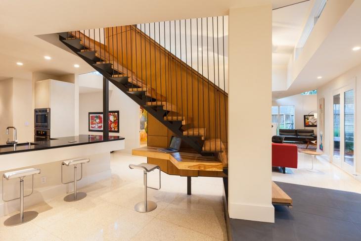 contemporary space saving staircase