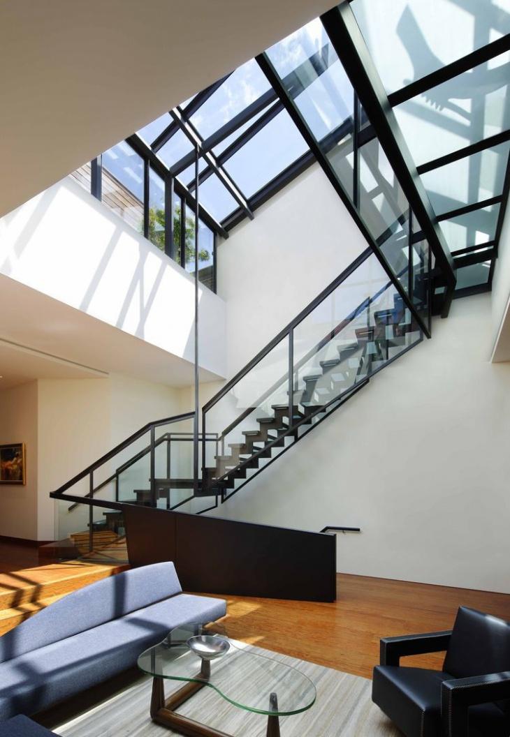 Space Saving Glass Staircase Design