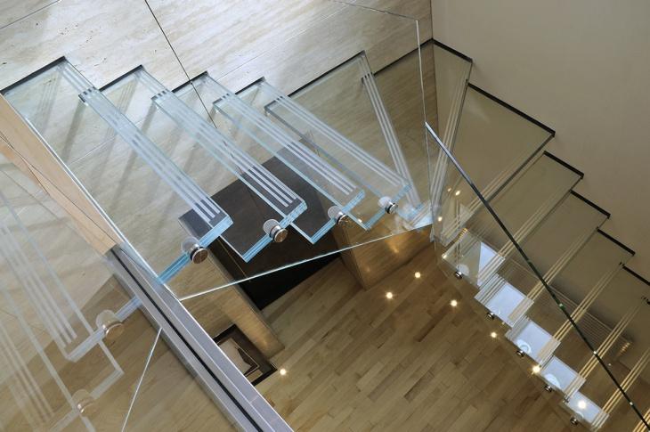Modern Glass Space Saving Stairs