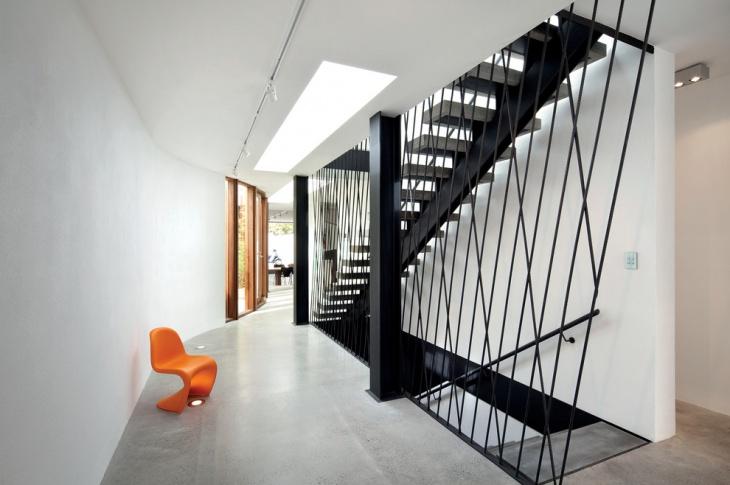 Black Steel Space Saving Stairs