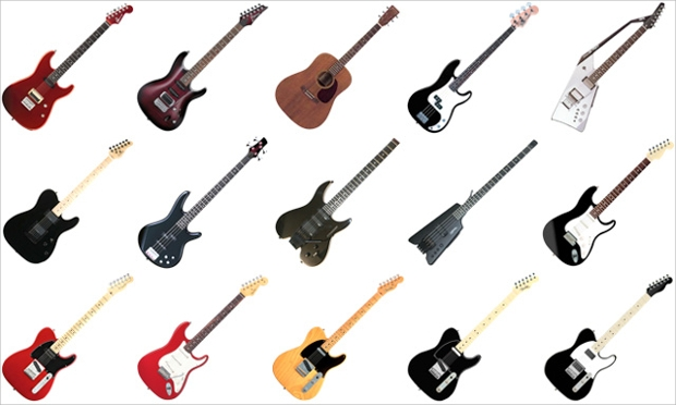 free guitar and bass icons