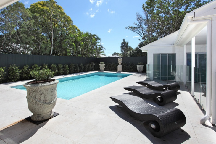 contemporary pool lounge