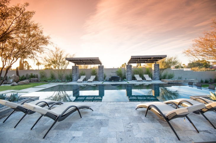 Modern Poolside Lounge