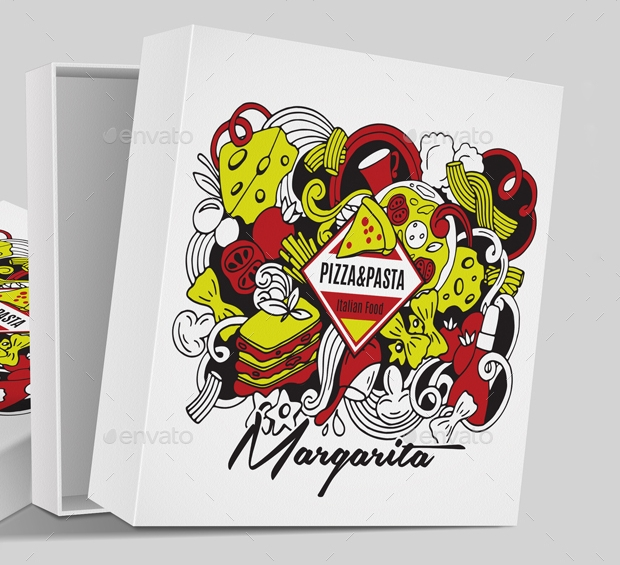 pizza box packaging design