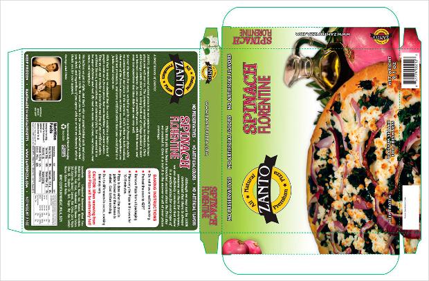 frozen pizza package design