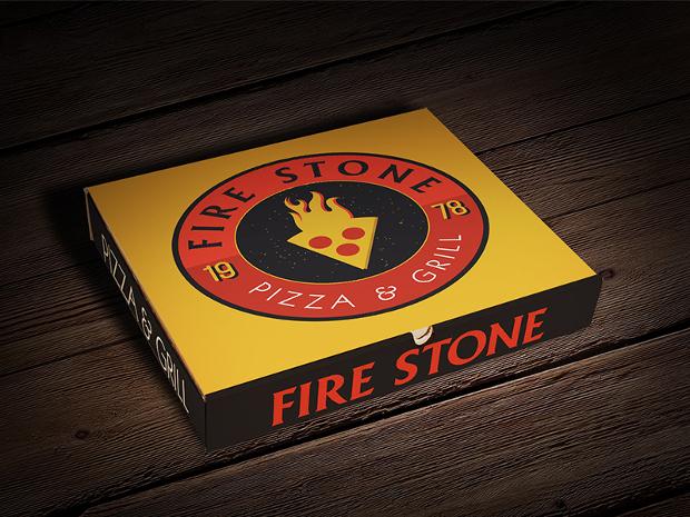 square pizza box package design