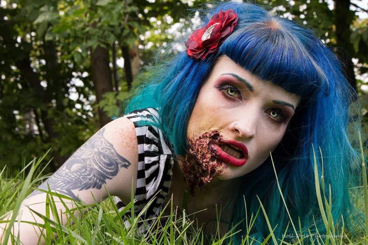 Zombie Pin Up Makeup Design