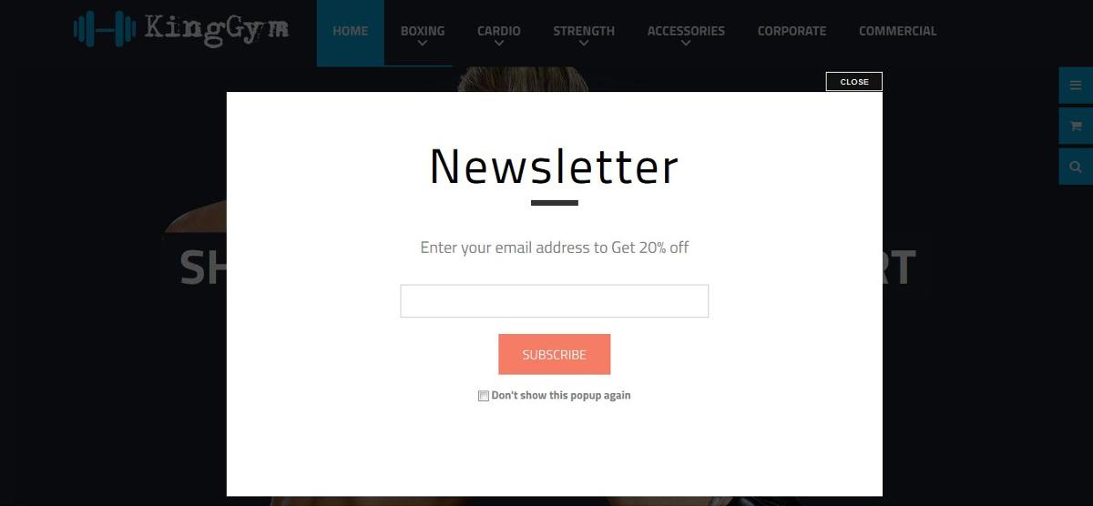 Newsletter Popup Design