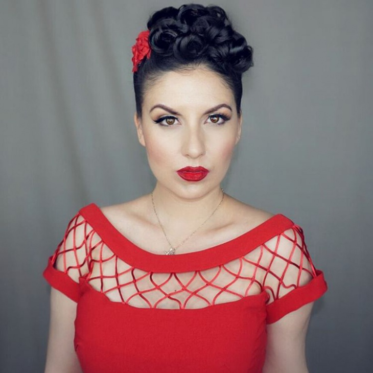 Pinup Red Makeup Idea